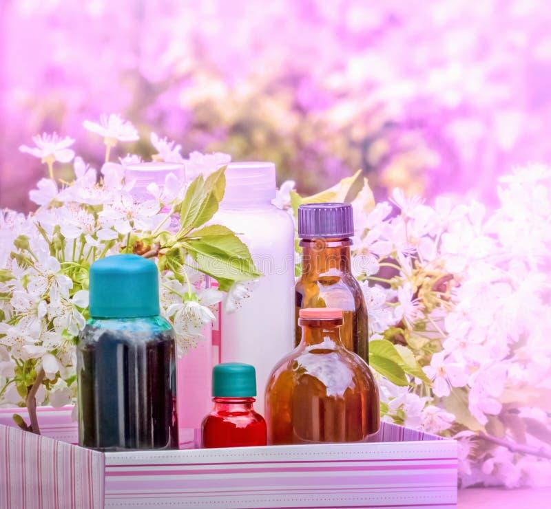 Badekur - Konzept (Aromatherapie) stockfotografie