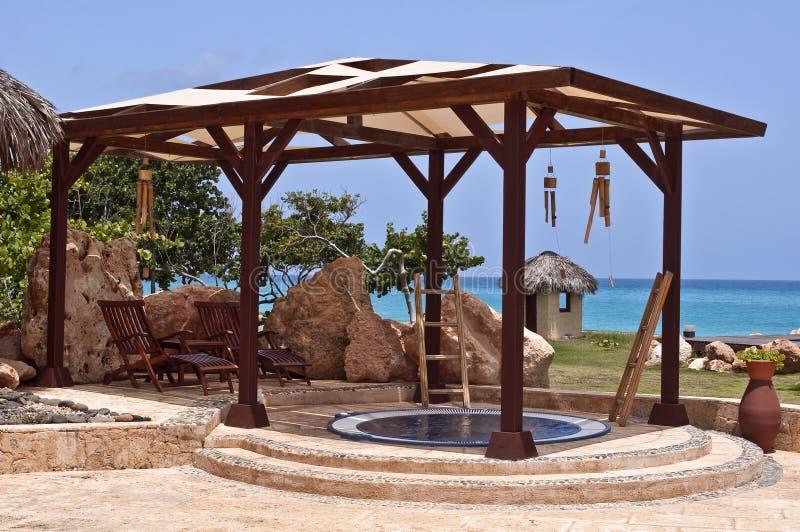 Badekurort in den Karibischen Meeren. lizenzfreies stockfoto