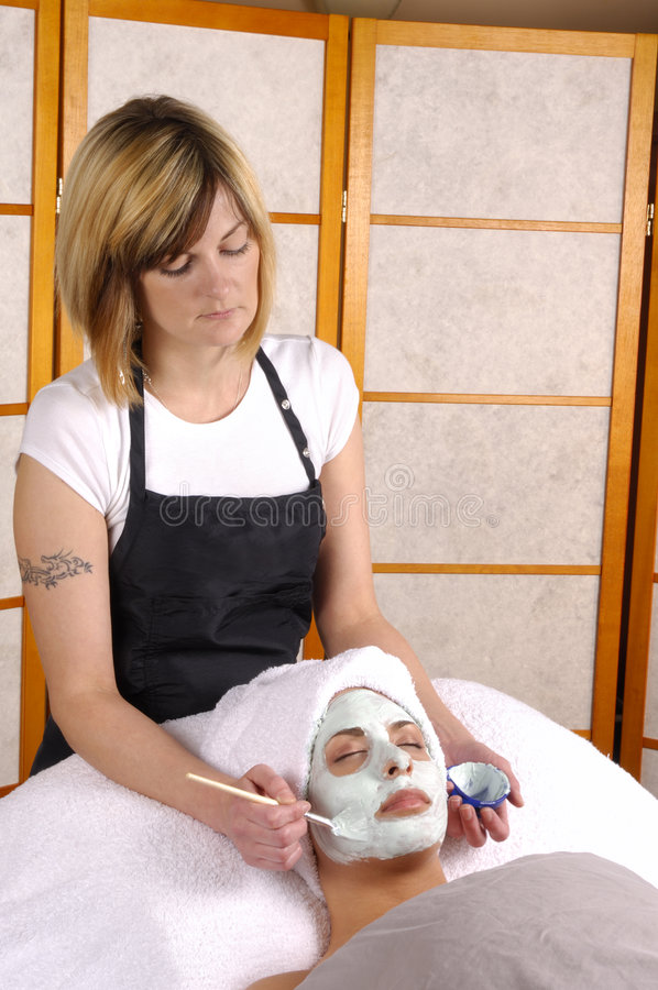 Badekurort-Gesichtsschablone Skincare lizenzfreies stockfoto
