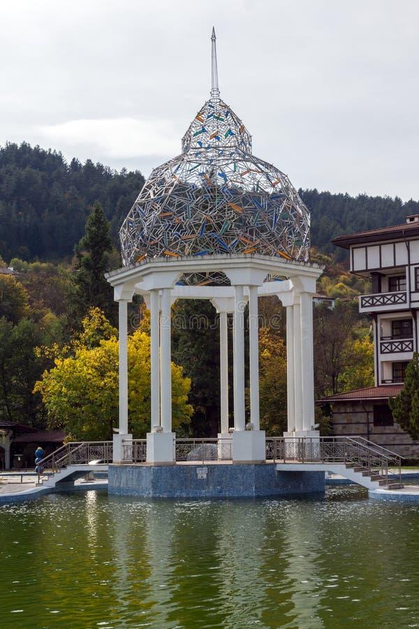 BADEKURORT Hotel Orpheus tn der Erholungsort von Devin, Smolyan-Region, Bulgarien lizenzfreie stockbilder