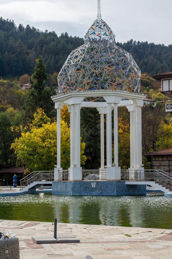 BADEKURORT Hotel Orpheus tn der Erholungsort von Devin, Smolyan-Region, Bulgarien stockfotografie