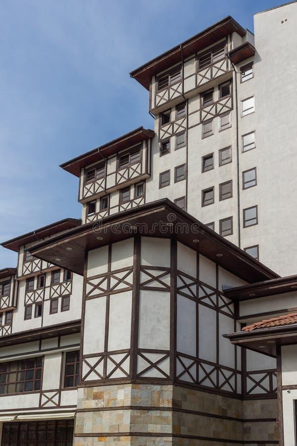 BADEKURORT Hotel Orpheus tn der Erholungsort von Devin, Smolyan-Region, Bulgarien lizenzfreies stockfoto