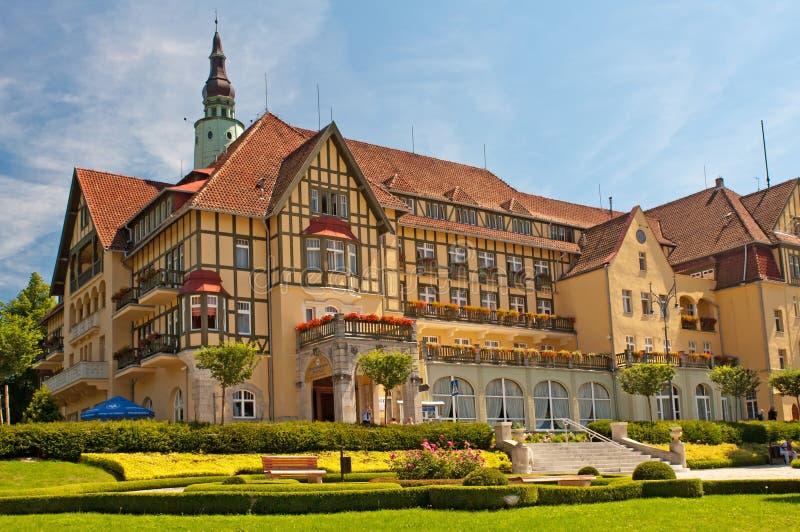Badekurort-Hotel in Polen lizenzfreie stockfotos