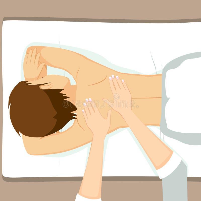 Badekurort-Massage-Mann stock abbildung