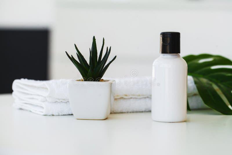 Badekurort Natürliche Inlandsprodukte für skincare Persönliche Hygiene es stockbild
