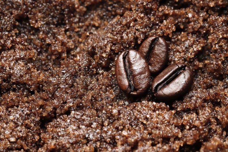 Badekurort scheuern Kaffee- und Schokoladenbeschaffenheitsnahaufnahme stockbilder