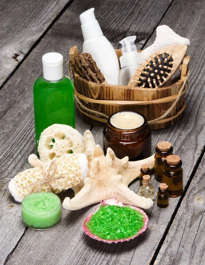 Badekurort und verwöhnen Produkte und Zubehör lizenzfreies stockfoto