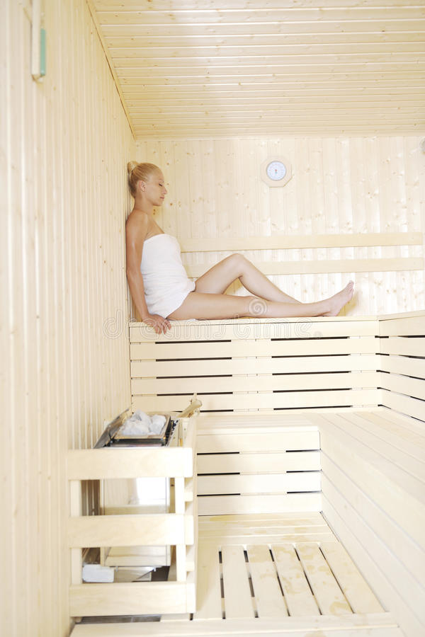 Badekurort und Wellneßbehandlung an der Sauna lizenzfreie stockfotografie