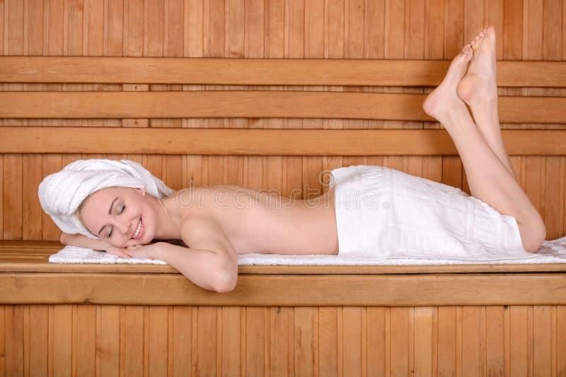 Badekurort und Wellness stockbild