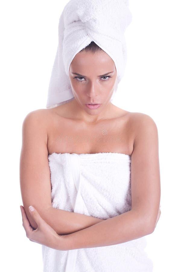 Badekurortfrau stockbild