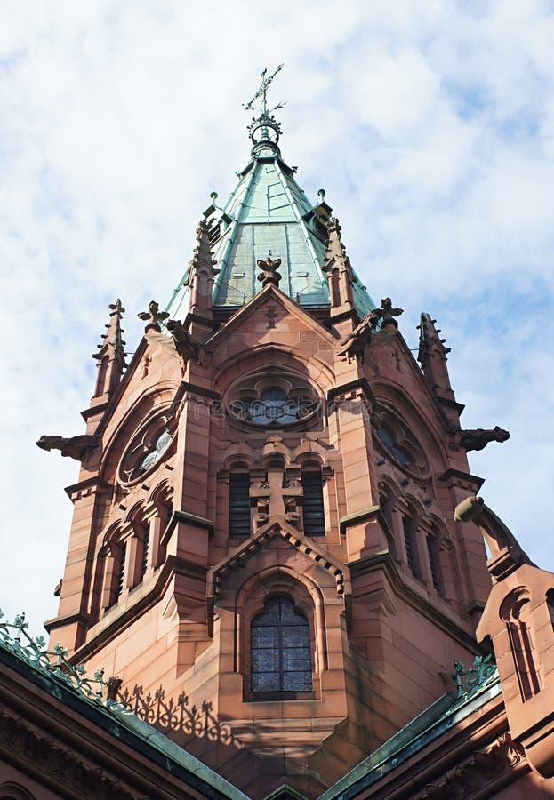 Baden公爵在卡尔斯鲁厄坟墓教堂里 库存照片