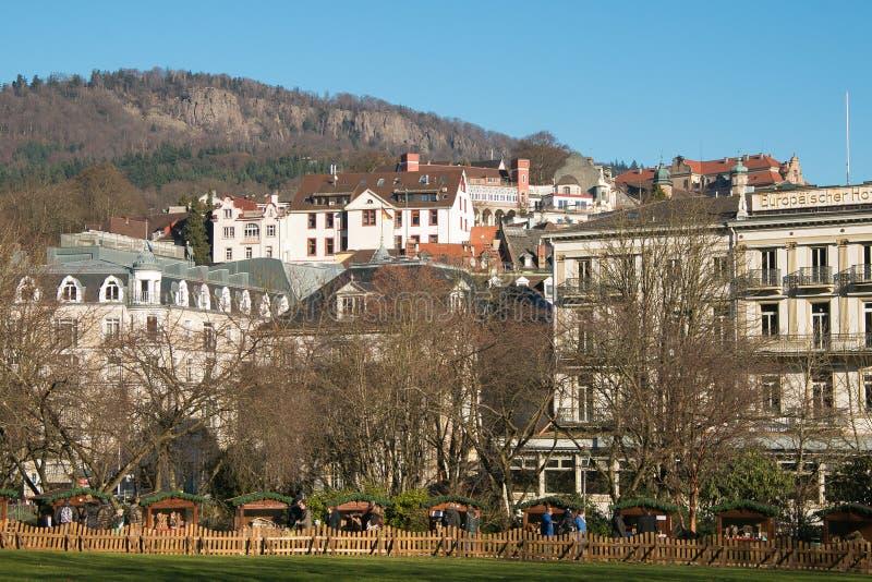 Baden-Baden圣诞节市场在德国 库存照片
