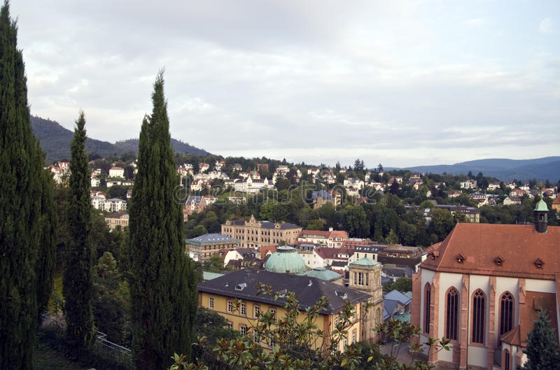 Baden-Baden. Is a Black Forest spa town that bathers have visited since Roman times royalty free stock photography