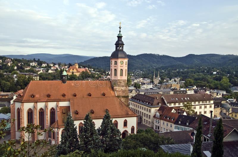 Baden-Baden. World famous spa town Baden-Baden in the Black Forest, Germany stock image