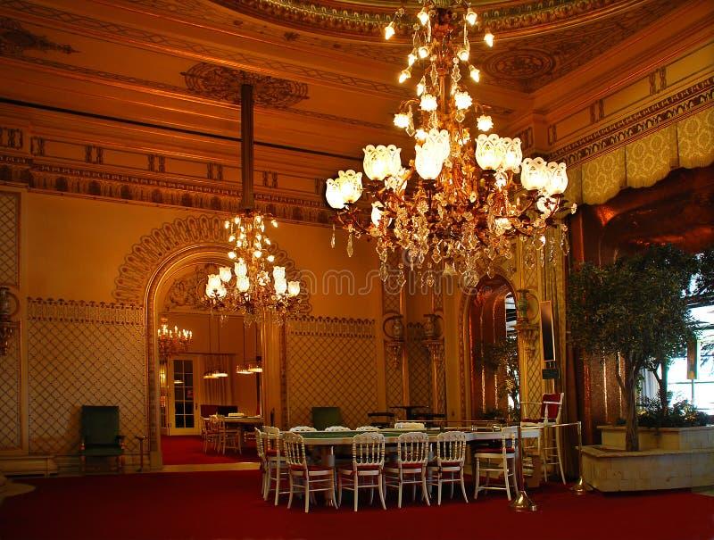 Baden-Baden Prachtige zaal van het casino stock fotografie