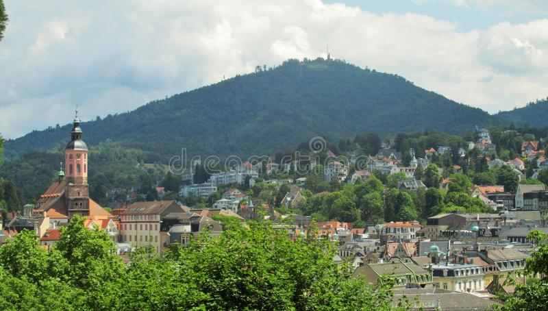 Baden Baden Summers. The breathtaking small German town of Baden Baden on the boarder of Germany and France stock photos