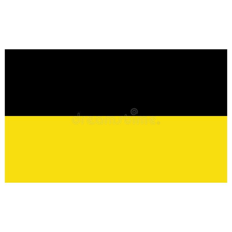Baden-Flaggenvektor stock abbildung