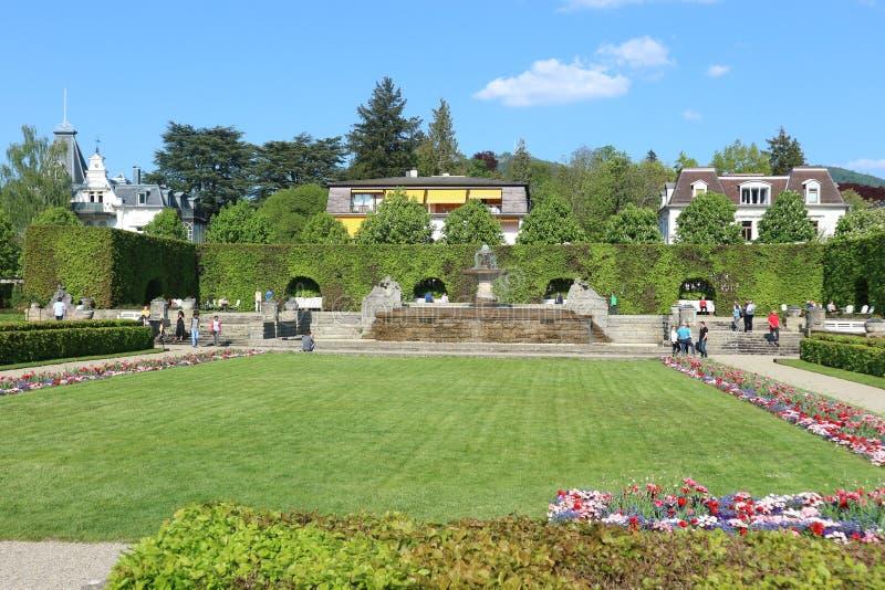 Baden Baden, Germany, May 1st 2019, Gönneranlage garden park. Named after the Lord Mayor, Albert Gönner 1838-1909 stock photos