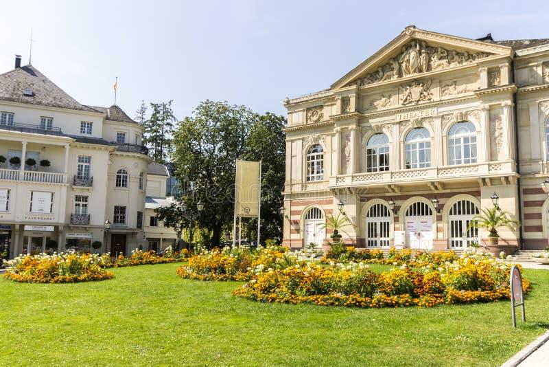 Baden-Baden, Germany. The Theater Baden-Baden at Goetheplatz, built in 1862 stock photo