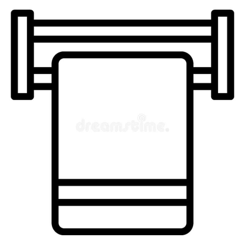Baden, Gewebe Vektor-Ikone, die leicht redigieren kann stock abbildung