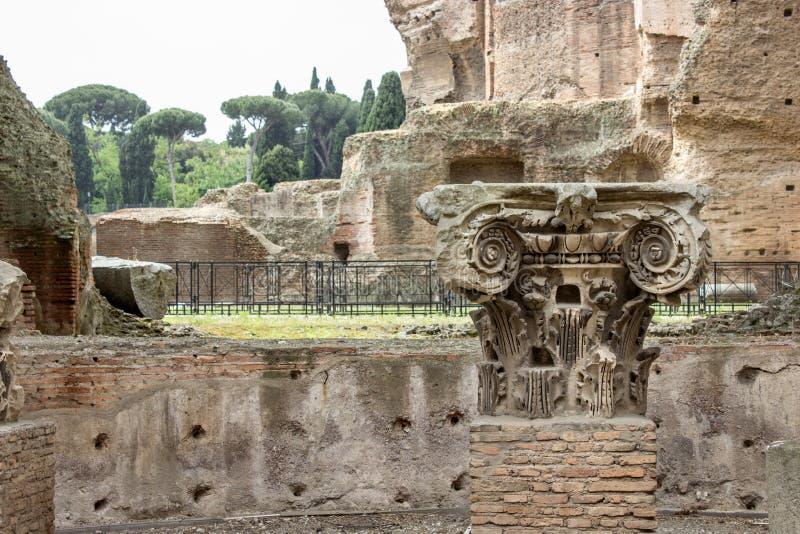 Baden van Caracalla stock afbeelding