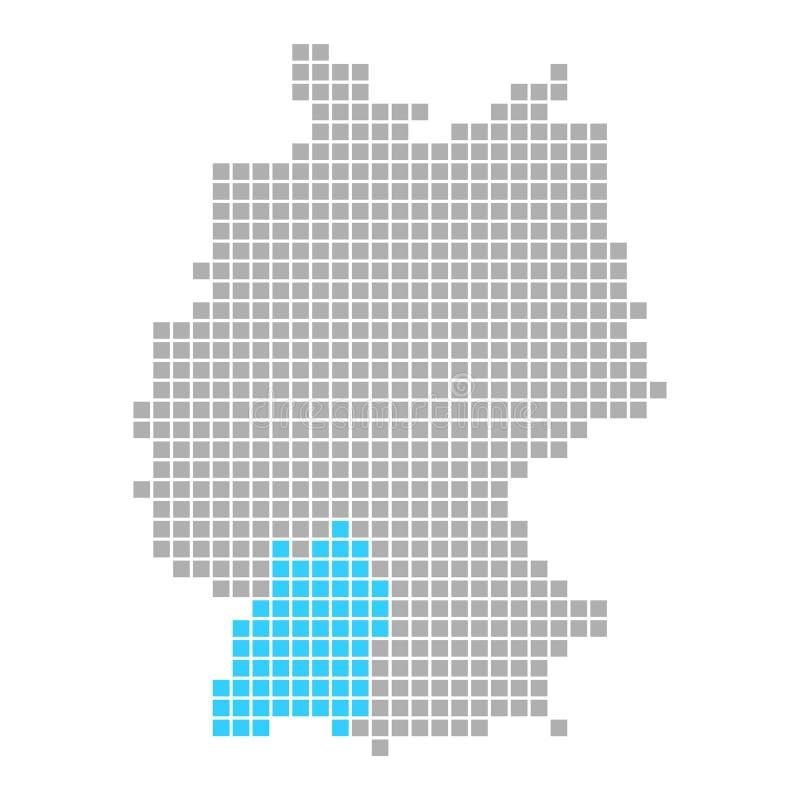 Baden-Württemberg auf einfacher Karte von Deutschland lizenzfreie abbildung
