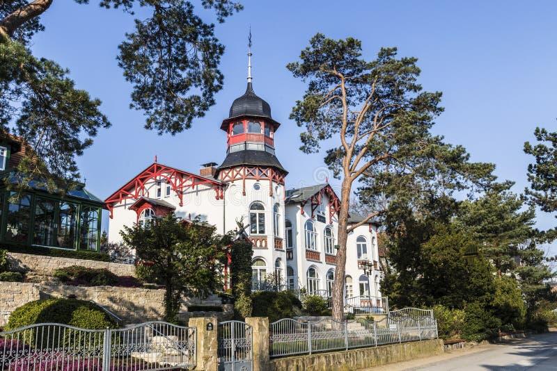 Badeorte im alten Kaiser-BADEKURORT-Dorf von Zinnowitz stockfoto