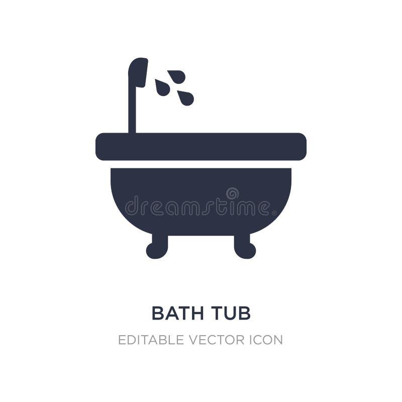 Badet badar symbolen på vit bakgrund Enkel beståndsdelillustration från hjälpmedel- och redskapbegrepp vektor illustrationer