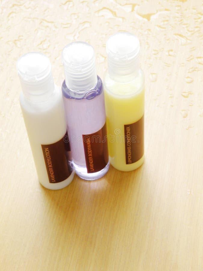 badet bottles produkter fotografering för bildbyråer