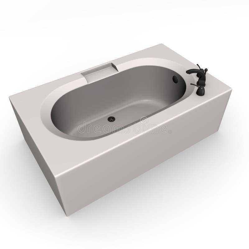 Badewanne stock abbildung