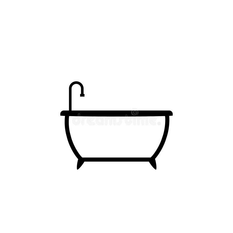 Badewannen- und Duschikone lizenzfreie abbildung