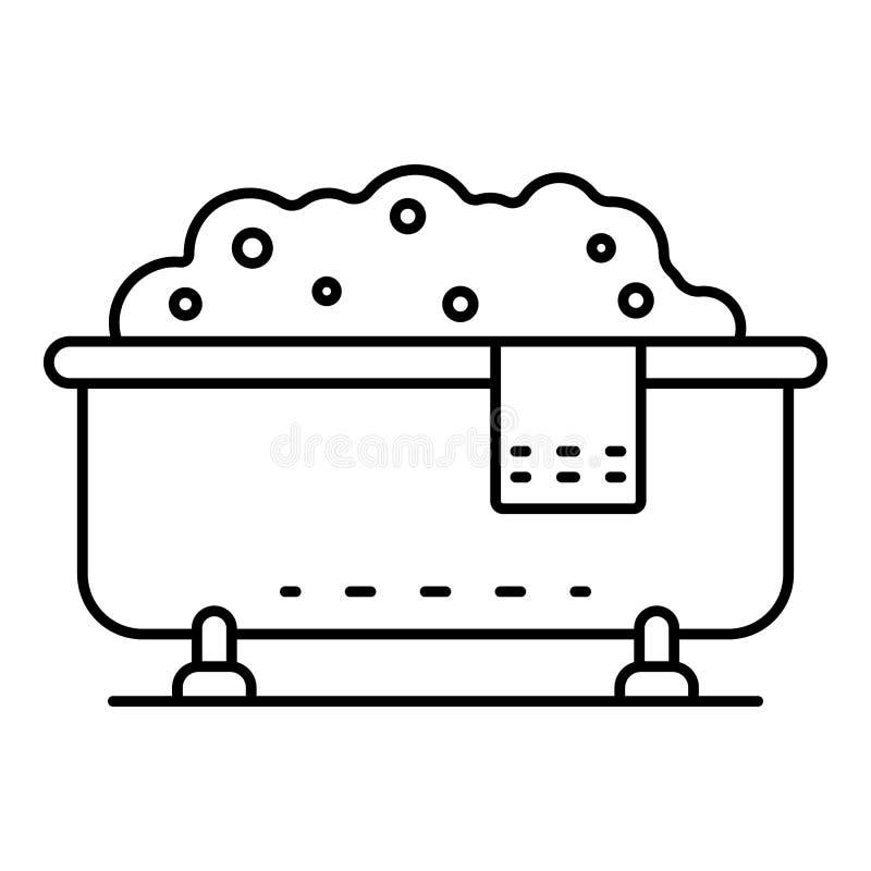 Badewannenikone, Entwurfsart lizenzfreie abbildung