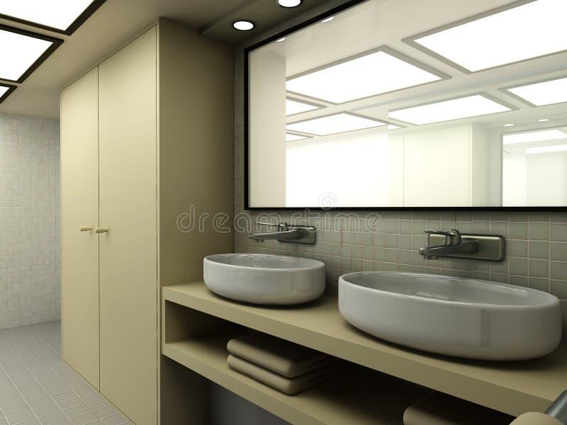 Badezimmer lizenzfreie abbildung