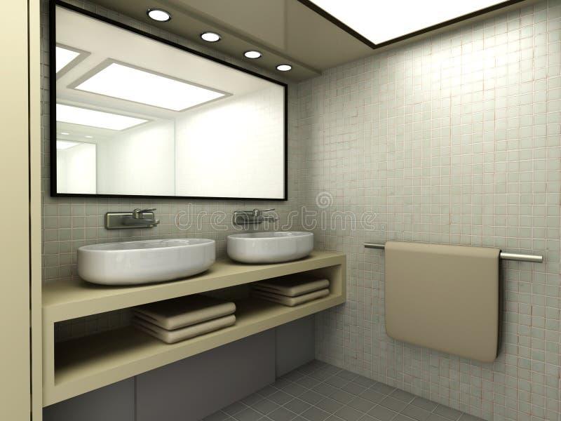 Badezimmer stock abbildung