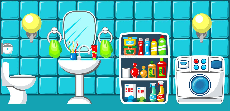 Badezimmer. stock abbildung