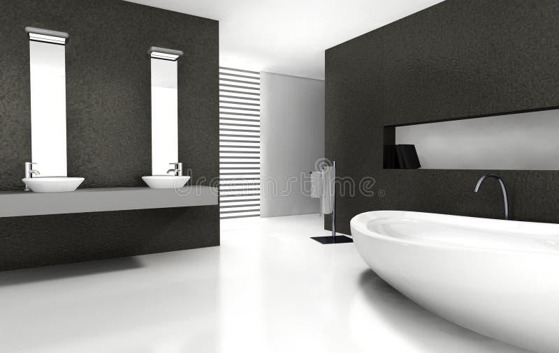 Badezimmer-Auslegung stock abbildung