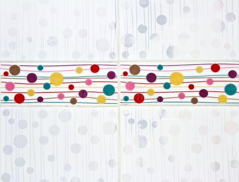 Badezimmer deckt Muster mit Ziegeln stock abbildung