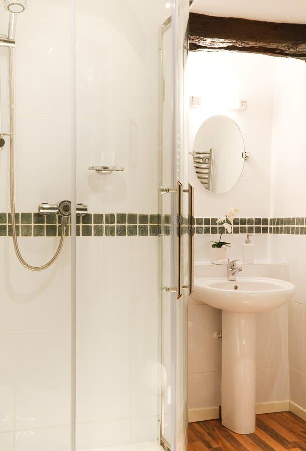 Badezimmer-Dusche stockbild