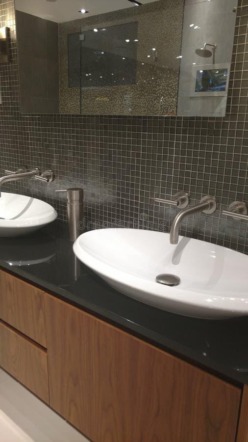 Badezimmer für perfekten Blick lizenzfreie stockfotos