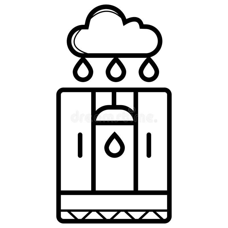 Badezimmer-Ikonen-Vektor lizenzfreie abbildung