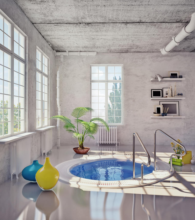 Badezimmer im Dachboden vektor abbildung
