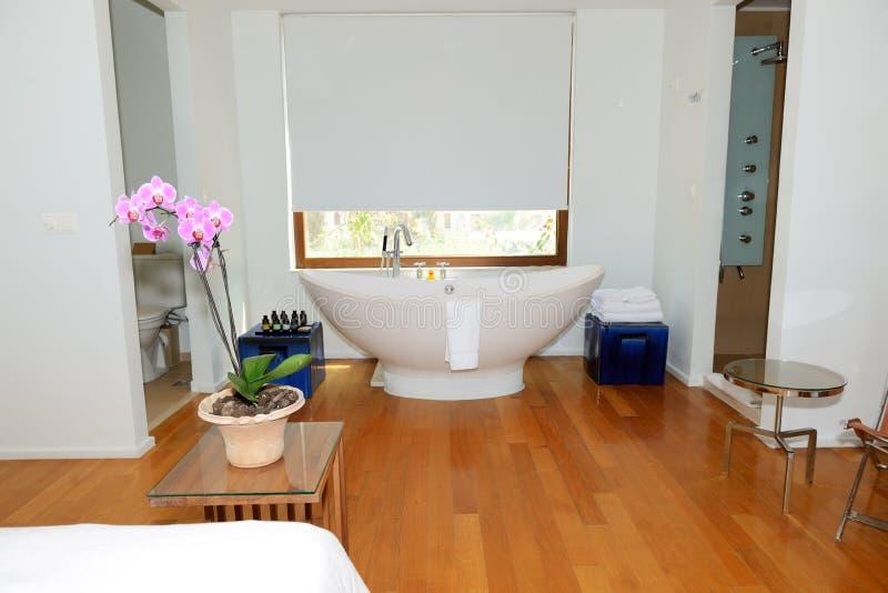 Badezimmer im Luxuslandhaus lizenzfreie stockfotos