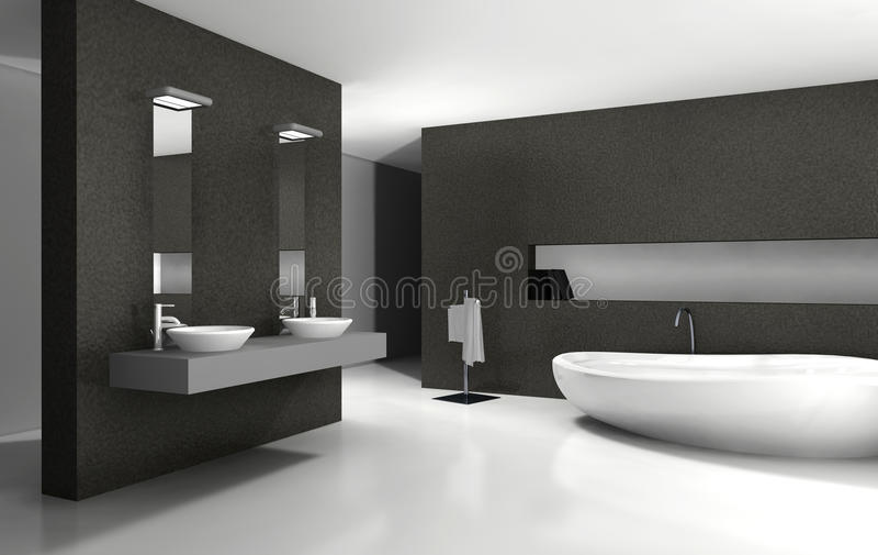 Download Badezimmer Innenarchitektur Stock Abbildung   Illustration Von  Badezimmer, Architektur: 24015255