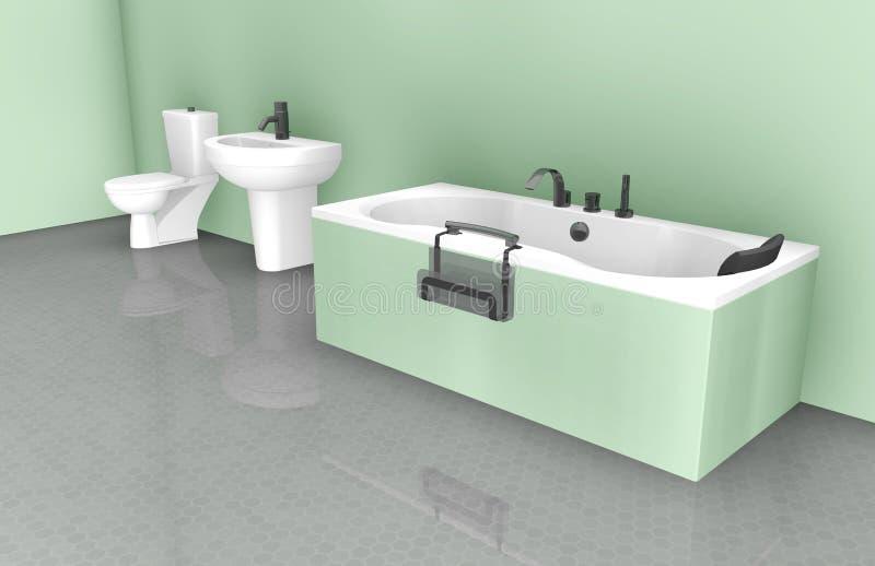 Badezimmer-Innenarchitektur stock abbildung