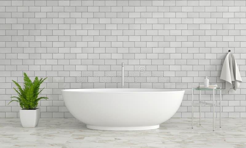 Badezimmerinnenbadewanne, Wiedergabe 3D vektor abbildung