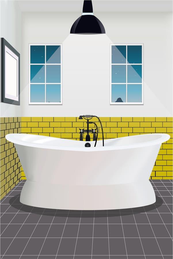Badezimmerinnenhintergrund mit Möbeln lizenzfreies stockbild