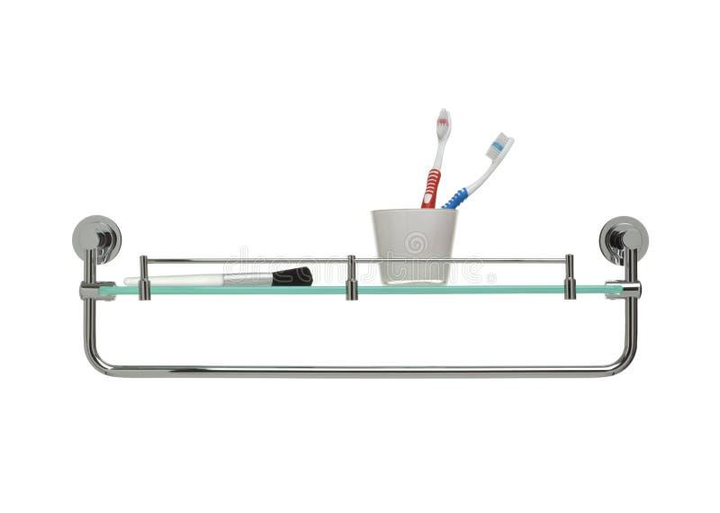 Badezimmernachrichtenserie - Bildschirmanzeige- und Tuchschiene stockbilder
