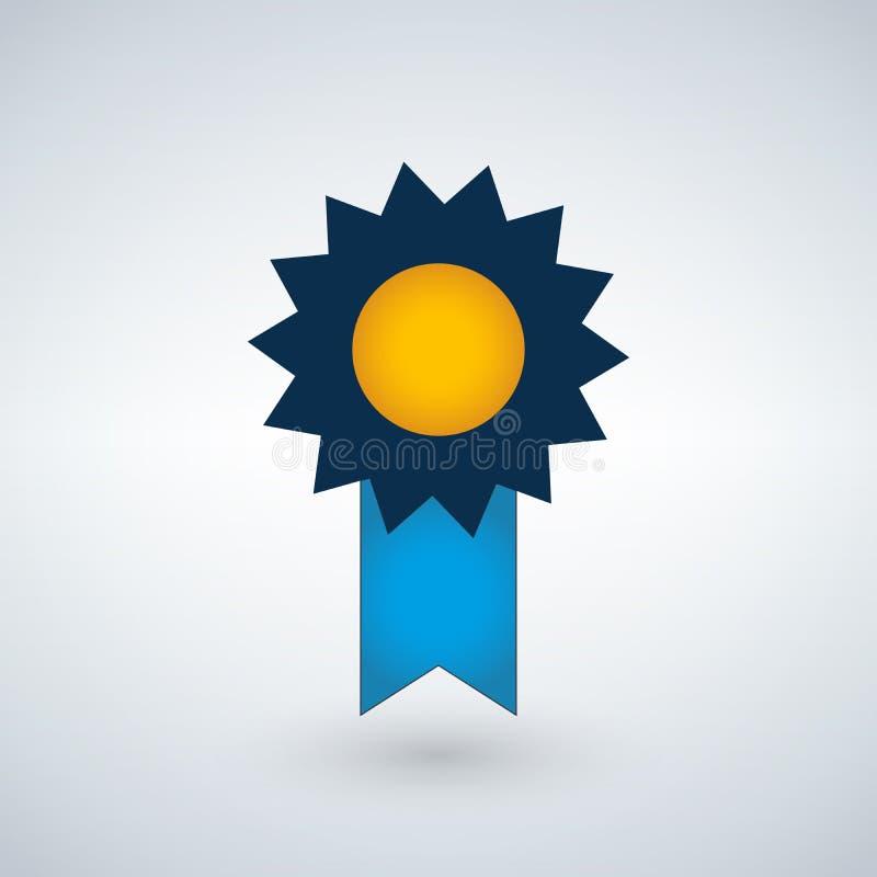 Badge el icono en estilo plano de moda aislado en fondo moderno Símbolo del premio para el diseño del sitio web, logotipo, app, U ilustración del vector
