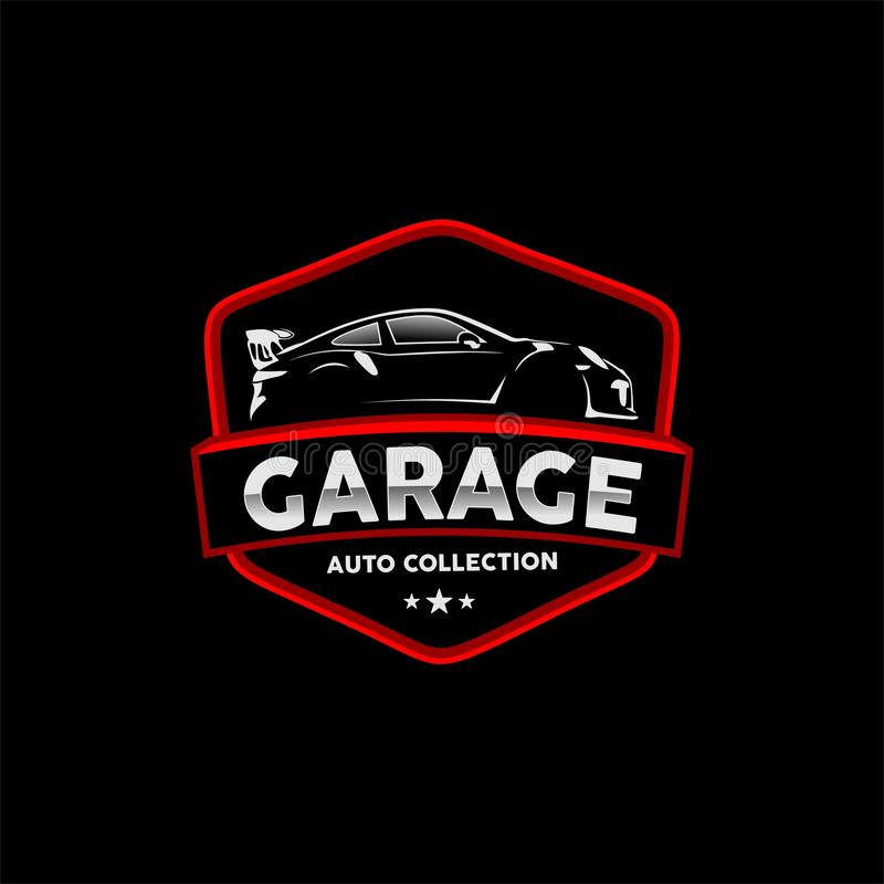 Classic Auto Detail Garage And Repair Car Logo Vector Stock Vector