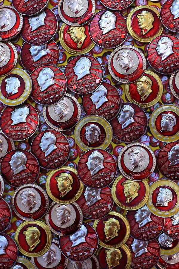 Download Badge mao zedong editorial photo. Image of republic, souvenir - 26077321
